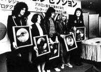 Queen in Japan in 1976 with gold discs