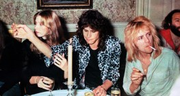 Queen at after show party with Aerosmith in 1976 (1)