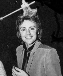 Roger at Queen's 'Crazy Hats' party held at Legends nightclub in London in December 1979