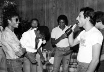 Queen with Michael Jackson in 1980