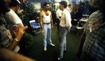 Freddie and David Bowie - Live Aid Backstage 1985