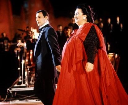 Freddie and Montserrat Caballe in 1988 - 2