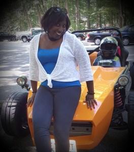 Lady Leaning on Go Kart