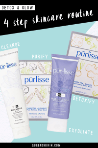 4 Step Skincare Routine for a Youthful Glow: purlisse Detoxifying Kit