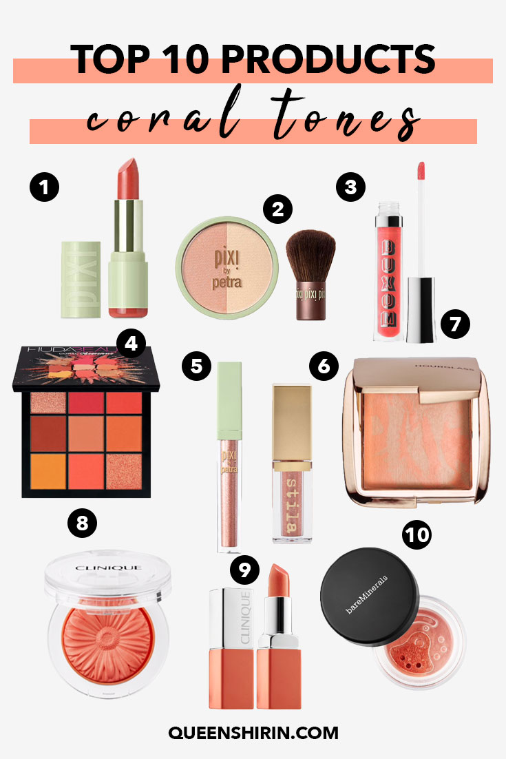 You are currently viewing Top 10 Coral Toned Makeup Products