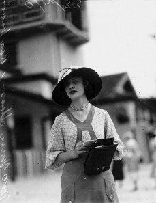 Vivienne Adams at Ascot Racetrack Brisbane December 1933
