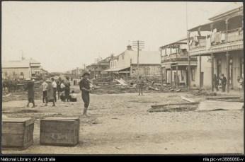 Mackay 1918 cyclone streetscape
