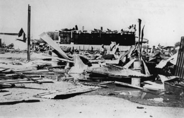 North Gregory Hotel after a fire in 1946
