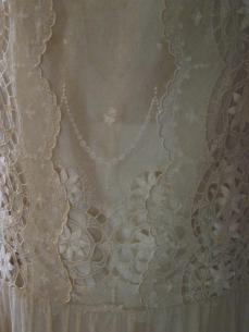 Fabric detail lace dress