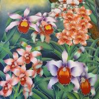 ✾ Orchid in Batik Painting and Textile Art ❁👚❂
