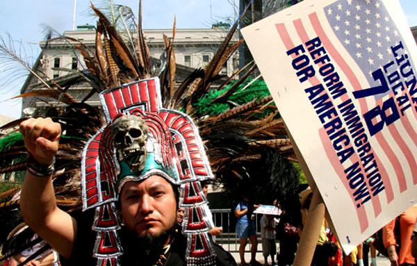 Los latinos presionan por una reforma de inmigración, pero no quieren seguir siendo usados por los plíticos. Foto Javier Castaño.