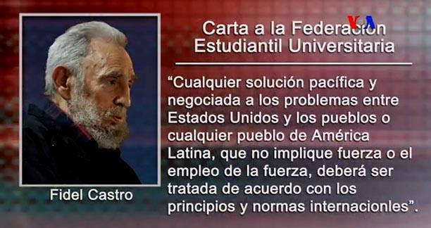 Fidel Castro opinando
