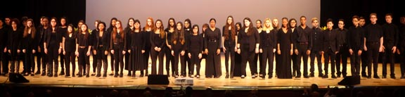 Coro de la escuela pública Frank Sinatra. Fotos Stephanie Velásquez