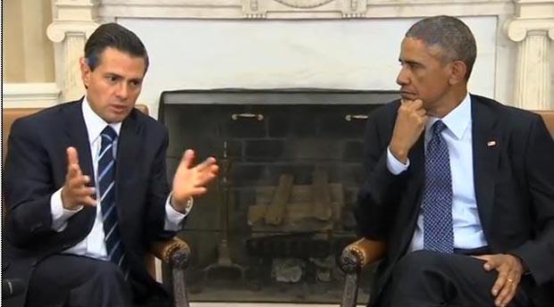 El presidente Peña Nieto de México y Barack Obama de Estados Unidos.