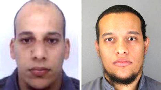 Fotos de los hermanos Kuachi, difundidas por la policía francesa.