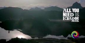 Imagen del comercial de televisión que promociona el turismo en Ecuador.