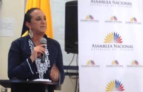 Gabriela Rivadeneira, presidenta de la Asamblea