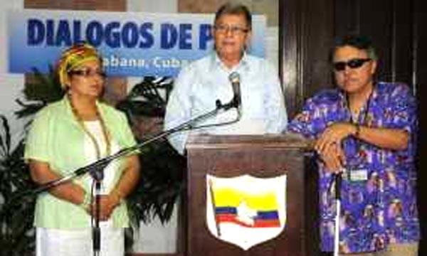 Los representantes de la guerrilla colombiana quieren saber la hitoria de la violencia en Colombia y que no se repita. Foto PL
