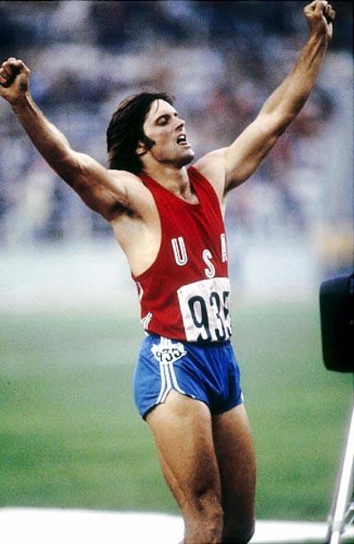 Bruce Jenner en los Juegos Olímpicos.