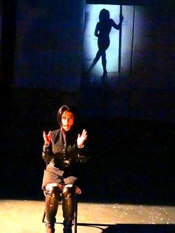 Escena de la obra Invierno en abril del dramaturgo  Ramiro Antonio Sandoval. Foto cortesía