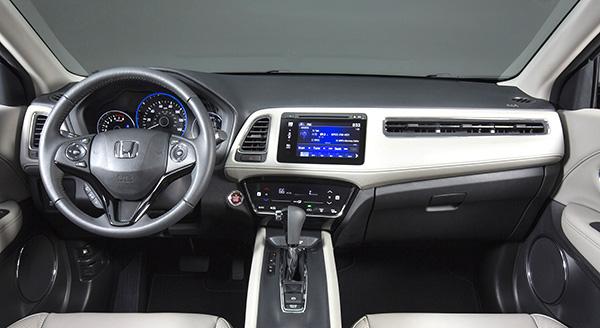 El interior del Honda HR-V es igual de sorprendente.