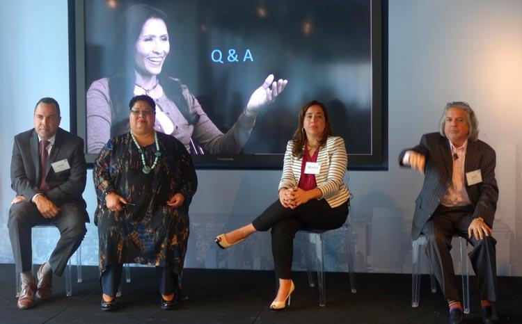 El panel, desde la izquierda, josé Calderón, Rossana Rosado, Mónica Cortés-Torres y Luis Miranda. Fotos Javier Castaño