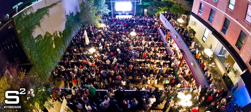 El Studio Square con su Beer Garden es ideal para disfrutar del fútbol de manera abierta. Foto cortesía