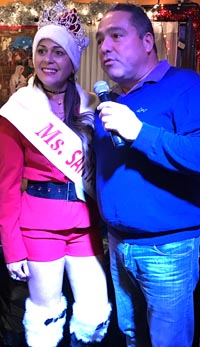 La Reina Santa Close 2016 y el empresario Eduardo Giraldo de Abetx, quien patrocinó la corona.