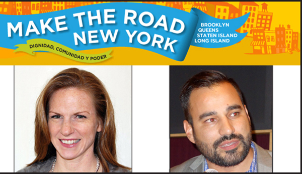 Deborah Axt y Javier Valdés son los directores de Make the Road New York con sede en la Roosevelt y la calle 92 de Jackson Heights, Queens.