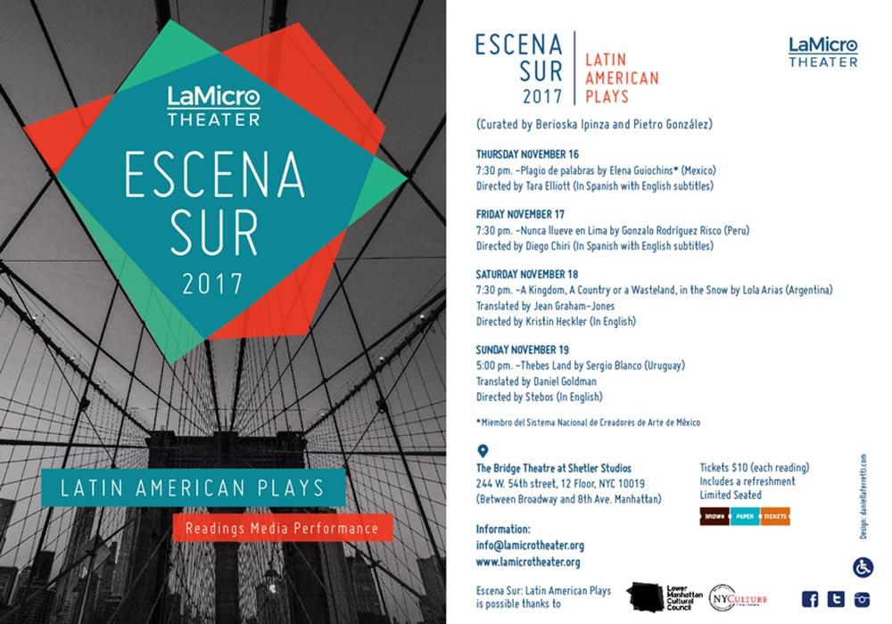Escena-Sur-2017 La Micro Theatre