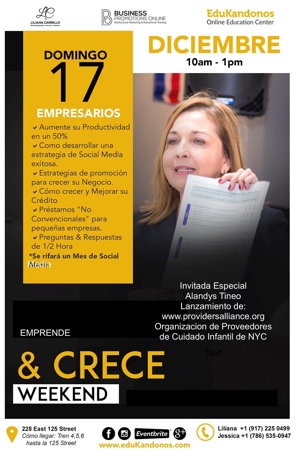 Liliana Carrillo aprende y crece empresarios