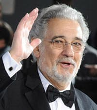 Tenor Plácido Domingo.