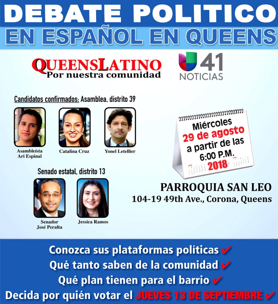 DEBATE politico en Queensposter