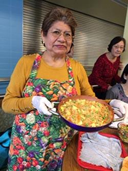 Christina Camacho en una de sus clases de nutrición. Foto cortesía
