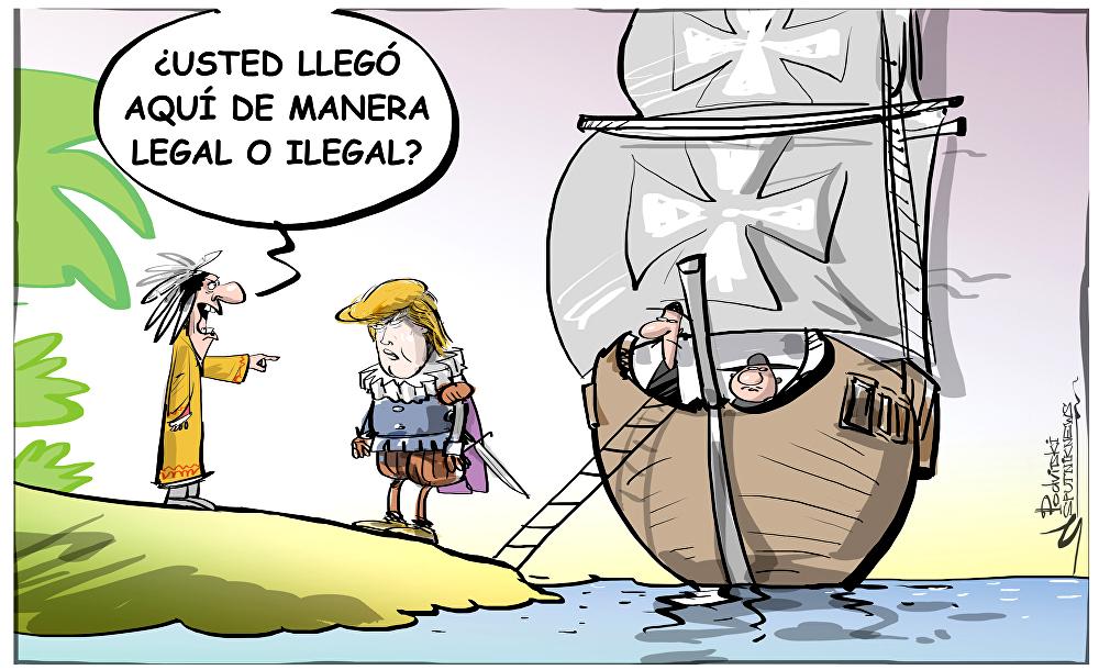 Trump inmigrantes caricatura
