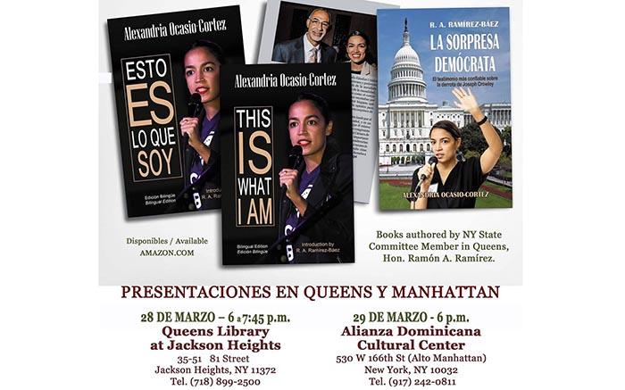 Presentación de libros sobre congresista Alexandria Ocasio-Cortez