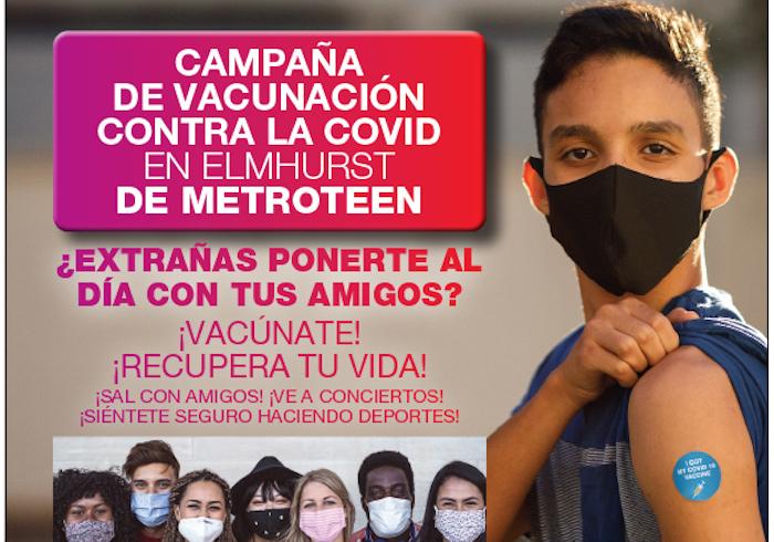 MetroPlus promueve vacunar adolescentes en Hospital Elmhurst éste sábado 19