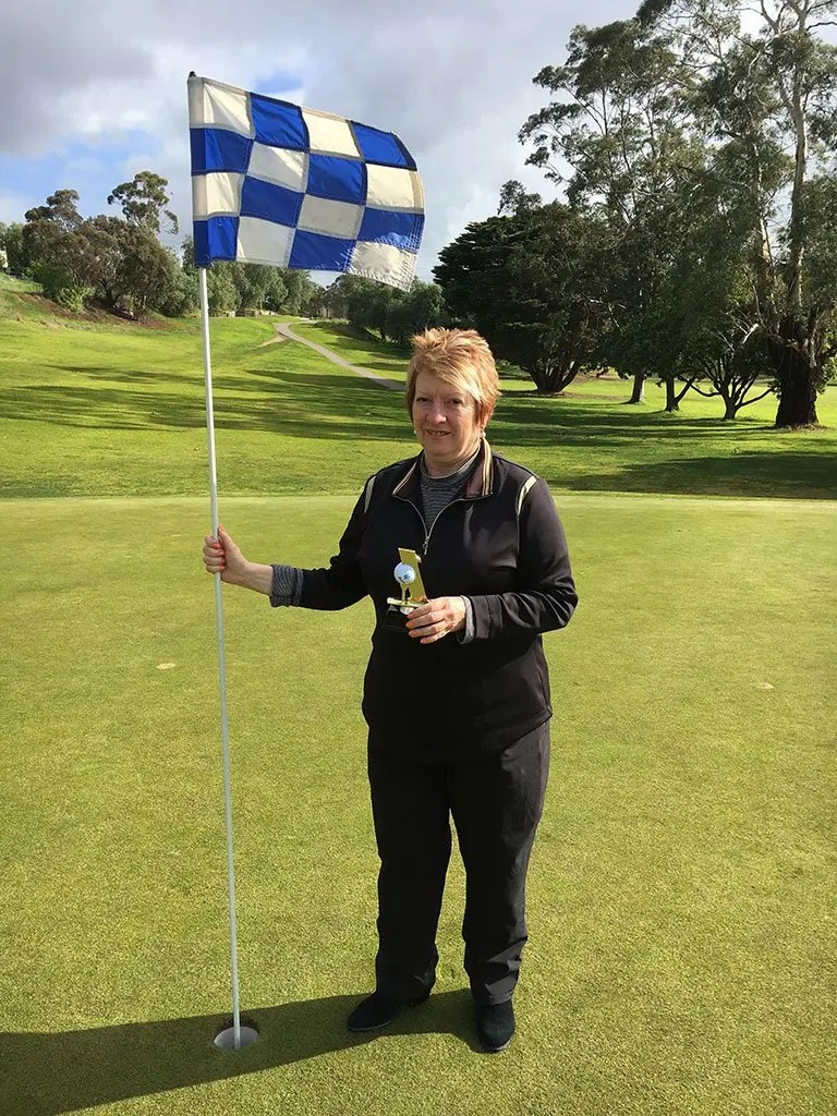 Deb Drove a Fine Line to a Hole In One!