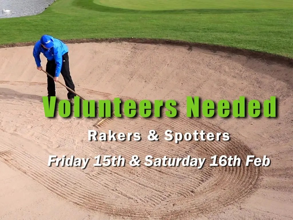 Spotters & Rakers Needed for the 2019 Open