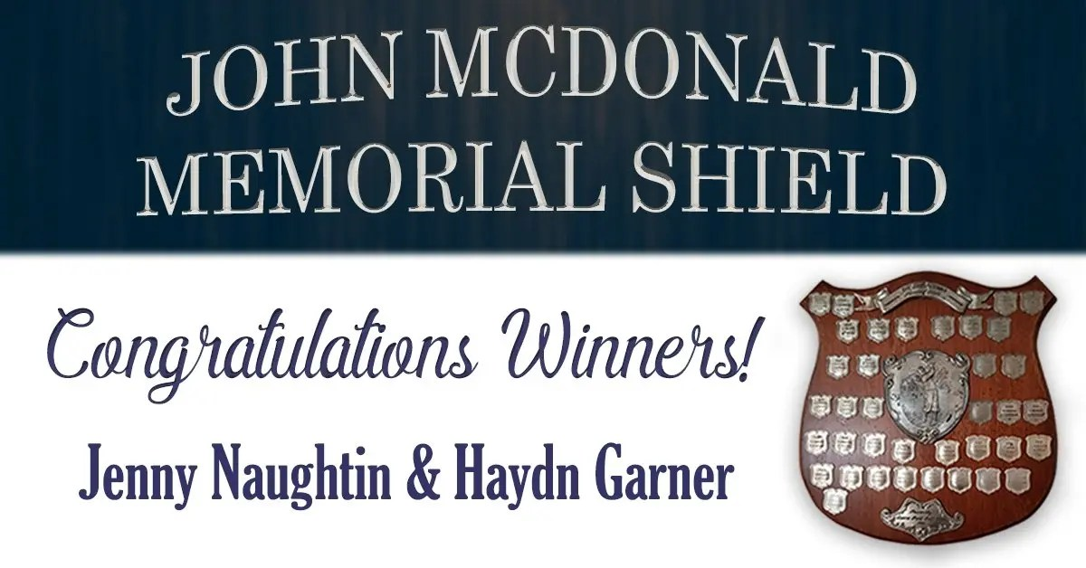 John McDonald Memorial Shield Winners 2019