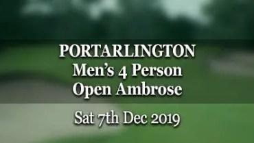 Portarlington Men's 4 Person Open Ambrose 2019