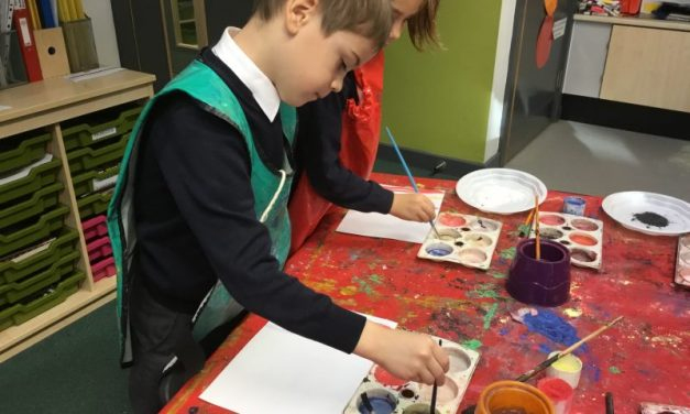 Y1 have been experimenting with colour mixing.