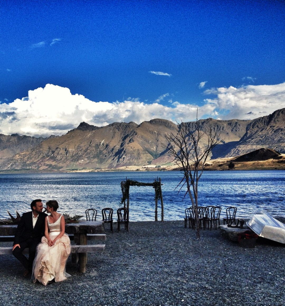 2 people 1 life wedding Queenstown