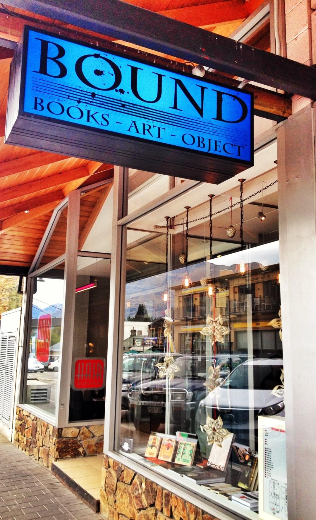 Bound Book shop Queenstown