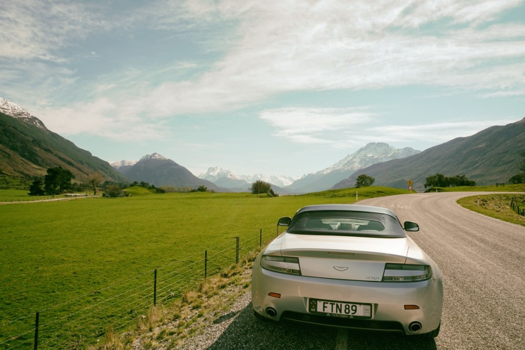 Driving to Glenorchy with Ignition Self Drive