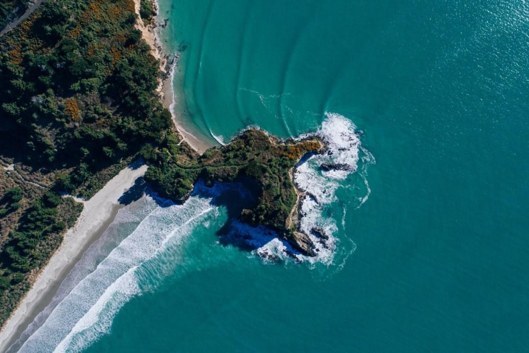 Aerial view dunedin beach