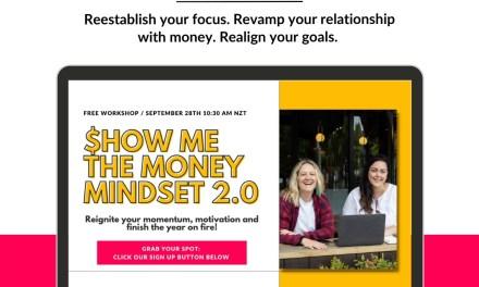 New workshop alert: Show Me the Money 2.0