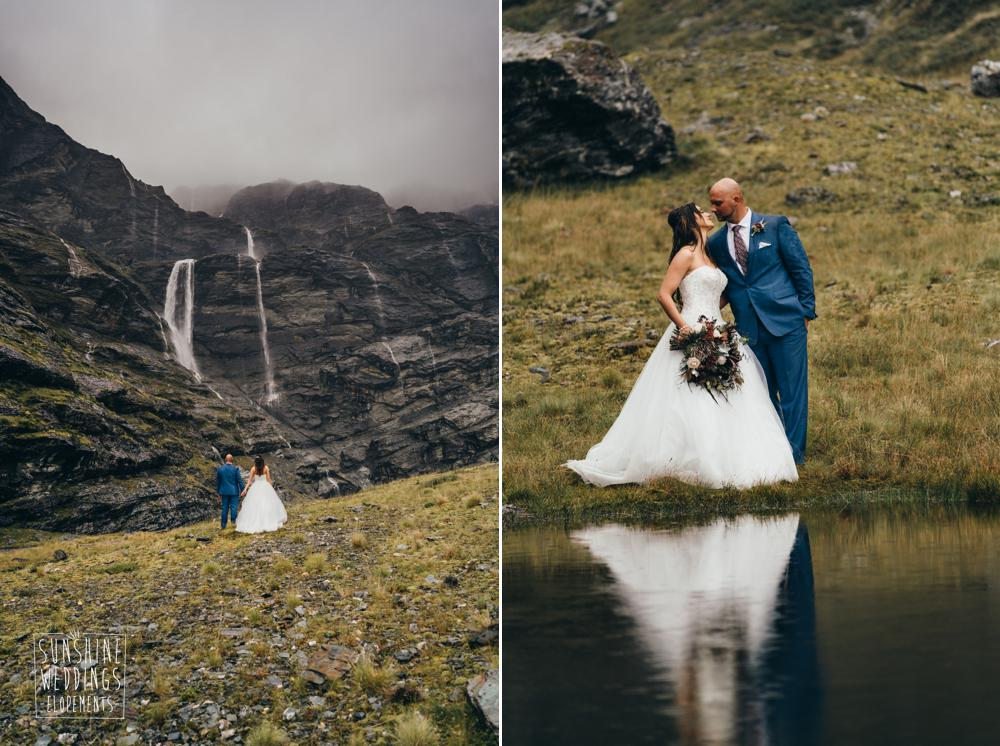 Sunshine Weddings mountain wedding packages for Earnslaw burn weddings