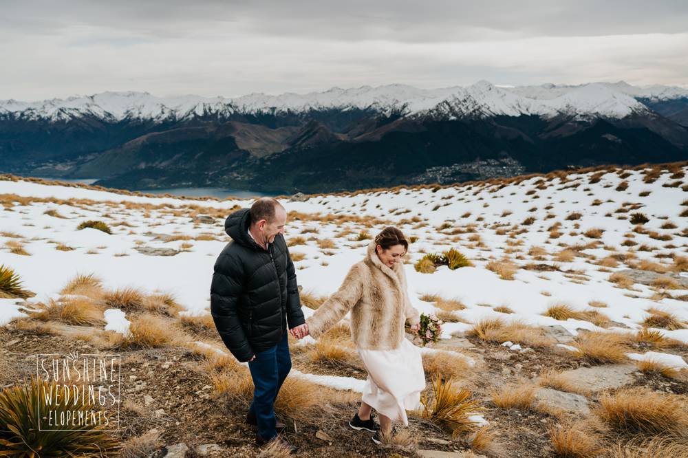 Cecil Peak winter elopement