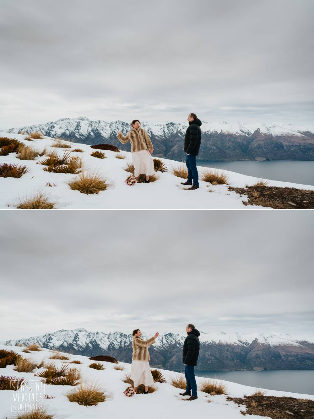 Snow wedding Island Spur Queenstown